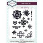 Creative Expressions Lisa Horton Festive Flurry Altered Snowflakes A5 Clear Stamp Set