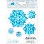 Tonic Studios Rococo Christmas Die Set Festive Miniatures Snowflakes Trio | Set of 6
