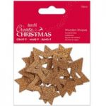 Docrafts Create Christmas Wooden Shapes Bronze Star | Pack of 12