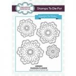 Sue Wilson Stamps To Die For Passion Flower Pre Cut Stamp