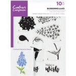Crafter's Companion A5 Photopolymer Stamp Blossoming Lilacs | Set of 10