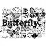 Woodware Clear Singles Butterfly Collage Stamp Set