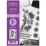 Crafter's Companion A6 Rubber Stamp Snowflake Kisses | Set of 7