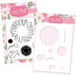 Apple Blossom Sunflower Stamp & Stencil Bundle