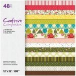 Crafter's Companion Printed Paper Pad Detailed Decorations 12in x 12in | 48 Sheets
