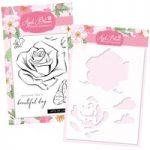 Apple Blossom Rose Stamp & Stencil Bundle
