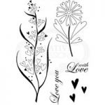 Woodware Clear Stamp Set Rustic Hearts