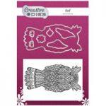 Creative Dies Die & Stamp Set Owl Set of 8 | Mehndi Collection