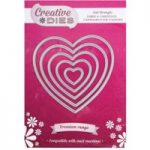 Creative Dies Nesting Die Set Hearts Premium Range Set of 5