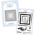 Paper Discovery Card Builder Nested Square Dies & Square Brush Stroke Stamps Bundle