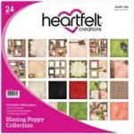Heartfelt Creations 12in x 12in Paper Pad Double Sided Blazing Poppy | 24 Sheets