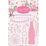 Apple Blossom 6in x 6in Stencil Fizz! Pop! Party! | Drink Trolley Collection
