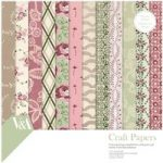 V&A Paper Pack 12in x 12in FSC Chintz Fabric and Lace Patterns | 36 Sheets