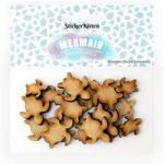 Sticker Kitten Mermaid Treasures Wooden Turtles | Set of 20