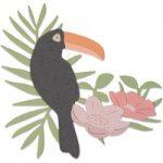 Sizzix Thinlits Die Tropical Bird & Flowers | Sophie Guilar
