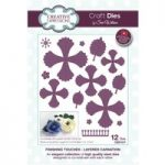 Sue Wilson Die Set Layered Carnation Set of 12 | Finishing Touches Collection