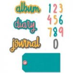 Sizzix Thinlits Die Set Journal Phrases Set of 9